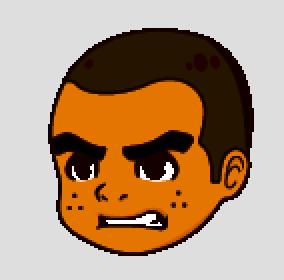 マルオ怒った顔