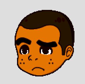 マルオ困った顔