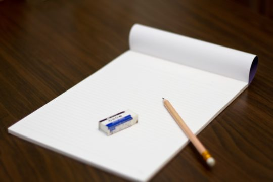 英作文のための紙とペン