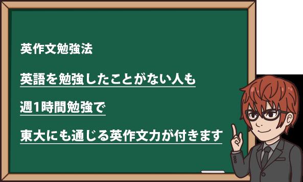 英語を勉強したことがない人も、週1時間勉強で英作文力が身につきます。