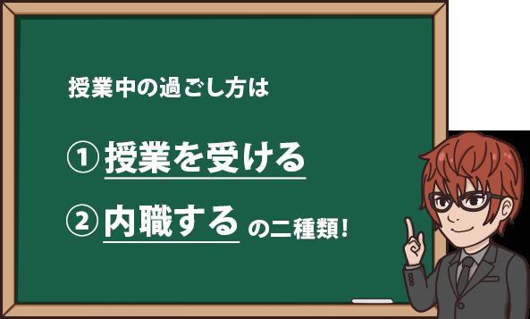 授業中の過ごし方は ①授業を受ける ②内職する の2種類だ!
