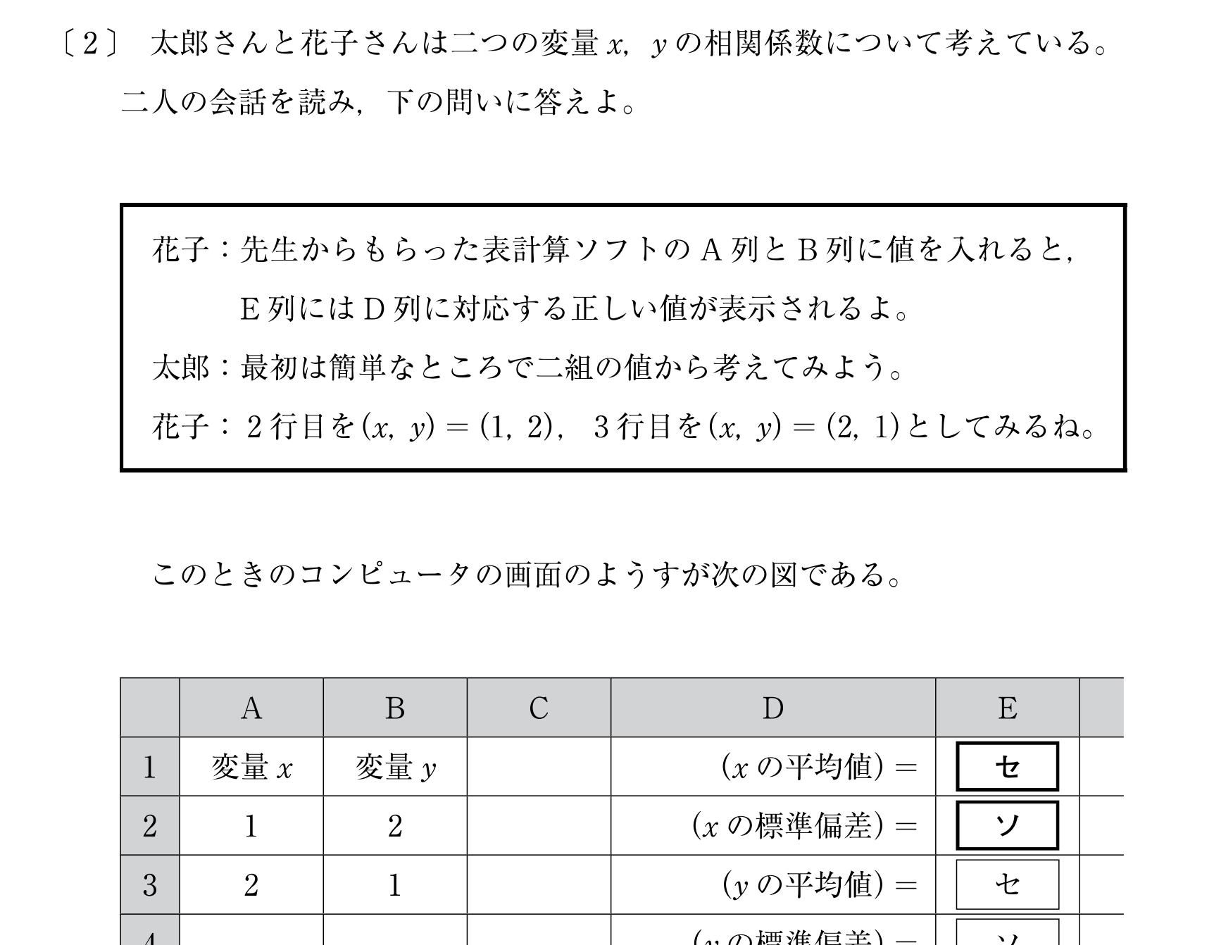 共通テスト試行調査H30−2